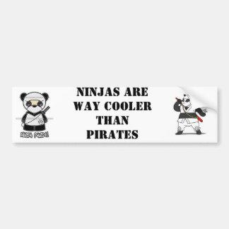 NinjaPandaPrintのninjapanda、忍者は方法鳴き声…です バンパーステッカー