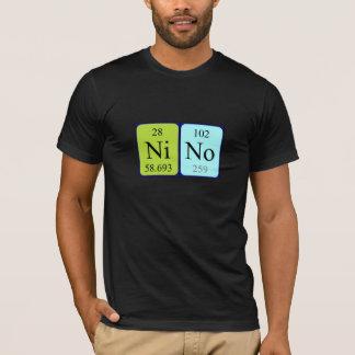 Ninoの周期表の名前のワイシャツ Tシャツ