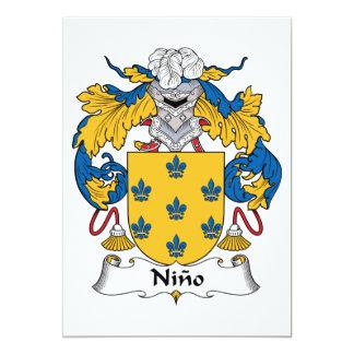 Ninoの家紋 12.7 X 17.8 インビテーションカード