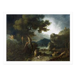 Niobeの子供の破壊、1760年(油 ポストカード