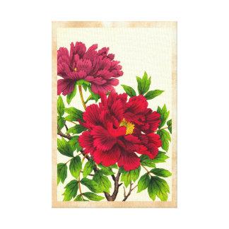 Nishimura Hodoのシャクヤクの日本語によっては芸術が開花します キャンバスプリント