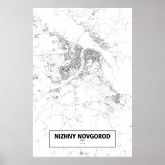 Nizhny Novgorod, Russia (black on white) ポスター
