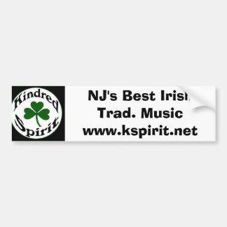 NJで最も最高のなアイルランドのTrad。 音楽ステッカー バンパーステッカー