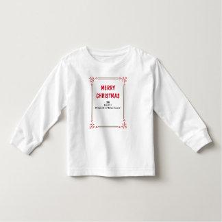 Njokuの「メリークリスマス」の幼児のスエットシャツ トドラーTシャツ