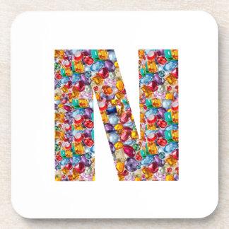 NNNの自然な宝石nはギフトのためのアルファを真珠で飾ります コースター