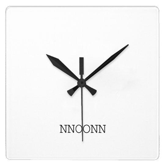 NNOONN SIMPLE LOGO WALL CLOCK スクエア壁時計
