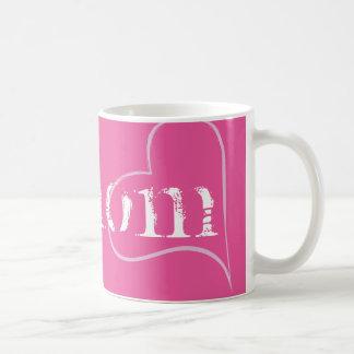 No1お母さん、ミイラ、母…ピンクのHashtag コーヒーマグカップ
