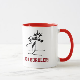 No1ハードル選手の赤 マグカップ