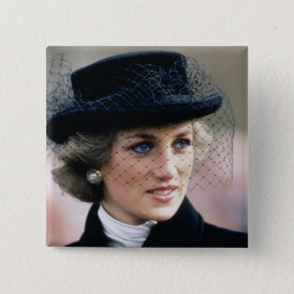 No.44プリンセスダイアナフランス1988年 5.1cm 正方形バッジ