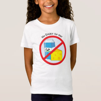 """No Dairy for me"" Allergy Awareness TShirt Tシャツ"