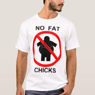 no_fat_chicks tシャツ