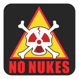 NO NUKES! 正方形シールステッカー