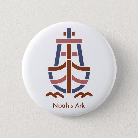Noah's ArkRetro_Ship_Logo-CL23 5.7cm 丸型バッジ