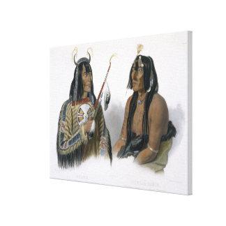 Noapeh、AssiniboinのインディアンおよびPsihdja-Sahpa、a キャンバスプリント