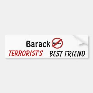 nobama、バラクのテロリスト、親友 バンパーステッカー