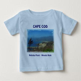 Nobskaポイント-ケープコッドMAの霧深い朝 ベビーTシャツ