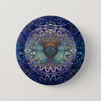 Noedicのくもの巣ボタンの曼荼羅 5.7cm 丸型バッジ