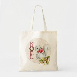Noelのお祝いのリス トートバッグ
