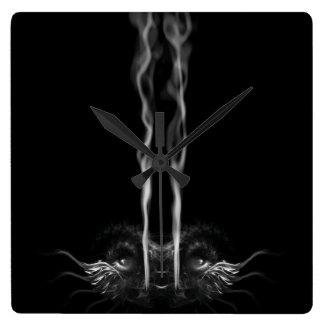 Noirドラゴンの煙のカスタムはくすぶります スクエア壁時計