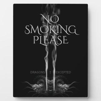 Noirドラゴン「禁煙の」カスタムはくすぶります フォトプラーク