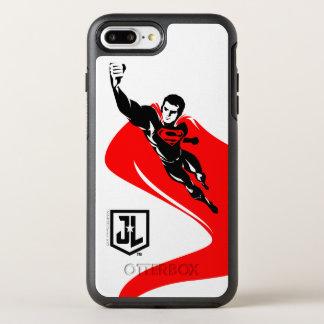 Noirポップアートを飛ばしているジャスティス・リーグ|のスーパーマン オッターボックスシンメトリーiPhone 8 Plus/7 Plusケース