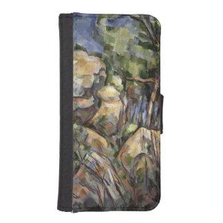Noir館の下の洞窟の近くの石c.190 iPhoneSE/5/5sウォレットケース