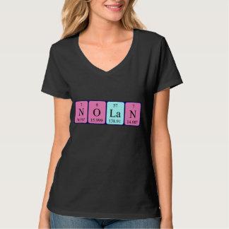Nolanの周期表の名前のワイシャツ Tシャツ