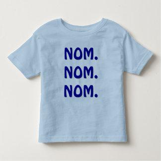 Nom。 Nom。 Nom. トドラーTシャツ
