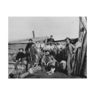 Nomeのライチョウを捜した後クロンダイクの人 キャンバスプリント