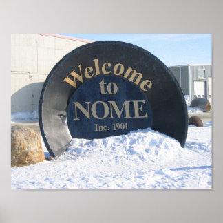Nomeアラスカへの歓迎 ポスター