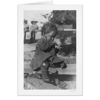 Nome 1906年で遊んでいるベビー カード