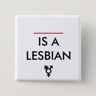 nonbinaryレズビアンのカスタマイズ可能なバッジ 5.1cm 正方形バッジ