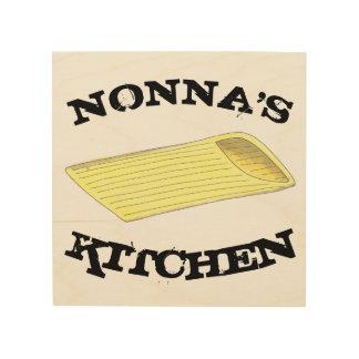 Nonnaの台所Penneのパスタのイタリアンな食糧料理 ウッドウォールアート