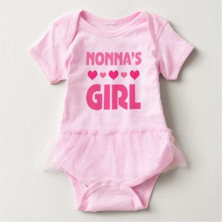 Nonnaの女の子のベビーくまの女の子のチュチュのティー ベビーボディスーツ