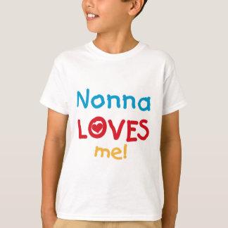 Nonnaは私をTシャツおよびギフト愛します Tシャツ