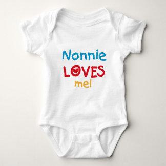 Nonnieは私をTシャツおよびギフト愛します ベビーボディスーツ