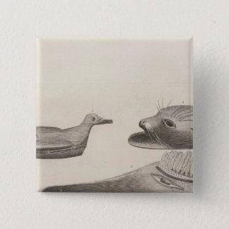 Nootkaの記事、ブリティッシュ・コロンビア 5.1cm 正方形バッジ