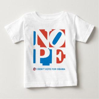 NOPE -私はオバマの幼児のTシャツのために投票しませんでした ベビーTシャツ