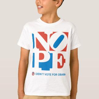 NOPE -私はオバマの青年Tシャツのために投票しませんでした Tシャツ