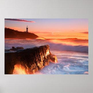 Norahのヘッド灯台|兵士ビーチ、オーストラリア ポスター