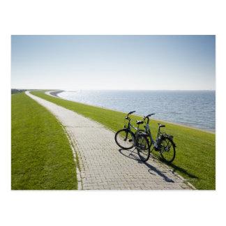 Norderneyの東のFrisianの島、ドイツ2 ポストカード