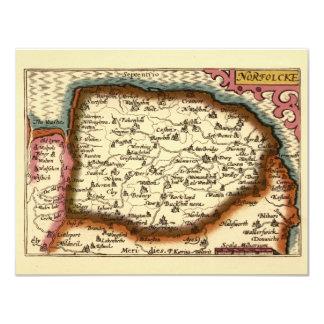 """Norfolcke""のNorfolk郡地図 カード"