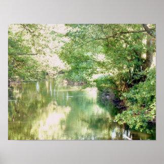 Norfolk River Scene ポスター