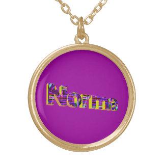 Normaの金ネックレス ゴールドプレートネックレス