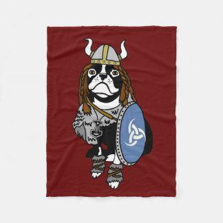 Norseのバイキング犬 フリースブランケット