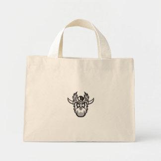 Norseの神のOdinのヘッドレトロ ミニトートバッグ