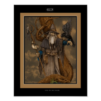 Norseの神Odin ポスター