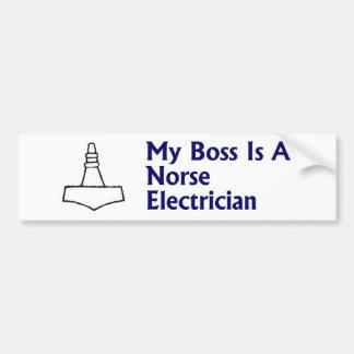 Norseの電気技師のバンパーステッカー バンパーステッカー