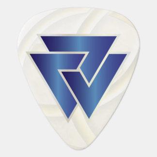 NorseのValknutの青い記号3 -ギターPic ギターピック