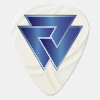 NorseのValknutの青い記号-ギターPic ギターピック